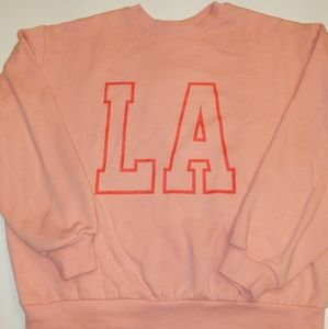WORE 1X WOMENS LA SWEATSHIRT SZ SM